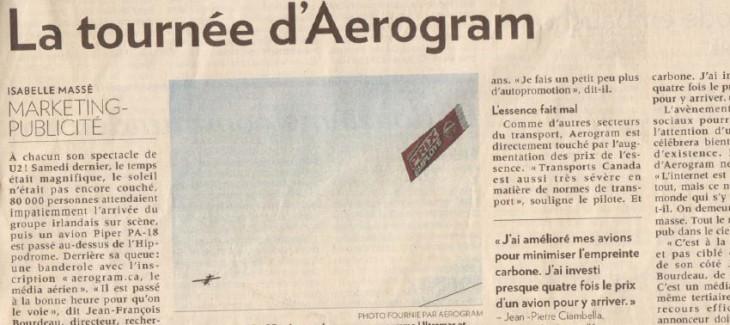 La tournée d'Aerogram